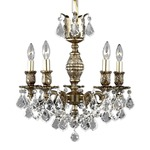 Rosetta Chandelier - French Gold / Clear