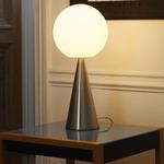 Bilia Table Lamp - Brass / White Glass