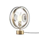 Orbital Table Lamp - Light Patina Brass / Moon Clear