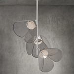 Mod Ceiling Lamp - White / White / Pearl Grey Crochet
