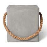Edge Stool On Wheels - Natural Concrete / Light Grey