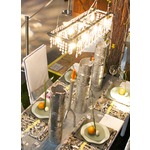 Tribeca 8 Light Banqueting Chandelier by Michael Mchale