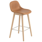 Fiber Bar Stool Tube Base - Cognac