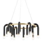 Whit Chandelier - Aged Brass / Black