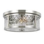 Alec Semi Flush Ceiling Light - Polished Nickel / Clear