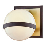 Ace Bathroom Wall Sconce - Brushed Brass