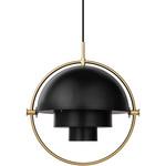 Multi Lite Pendant - Charcoal Black / Brass