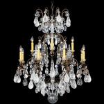 Renaissance Rock Crystal Chandelier - Heirloom Bronze / CL Crystals