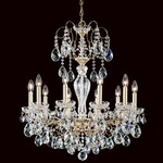 Sonatina Chandelier - Etruscan Gold / Heritage Crystal