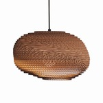 Alki Scraplight Pendant - Natural Corrugated Cardboard