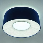 Velvet Flush Mount Ceiling Light - OPEN BOX - White / Blue Shade/ Warm White Diffuser