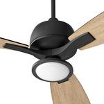 Juno Ceiling Fan Light Kit - Black / Satin Opal