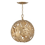 Botanica Orb Pendant - Burnished Gold