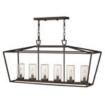 Alford Place 120V Linear Chandelier - Oil Rubbed Bronze / Clear Seedy
