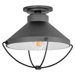 Crew 120V Outdoor Ceiling Light Fixture - Black