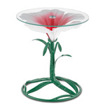 Hibiscus Accent Table - Green / Glossy White