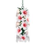 Hibiscus Pendant - Green / Glossy White