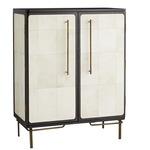Edison Cabinet - Ebony / White