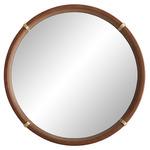Edmund Mirror - Brass / Brown