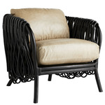 Strata Chair - Oyster Leather and Black
