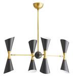 Fuentes Chandelier - Antique Brass / Bronze