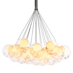 Series 28 Cluster Pendant - Fixed Length - White / Clear