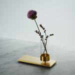 Machined Vase - Brass