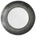 Round Metal Mirror - Aged Zinc / Mirror