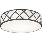 Haven Flush Ceiling Light - Black / White Acrylic