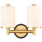 Marlowe Bathroom Vanity light - Satin Gold / White