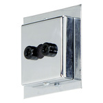 Display Jack 2 Inch Square Canopy - Chrome