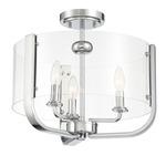 Campisi Semi Flush Ceiling Light - Chrome / Clear