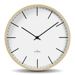 Wood Wall Clock - Natural / White
