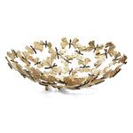 Butterfly Ginkgo Bowl - Oxidized Brass / Natural