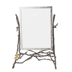 Butterfly Ginkgo Mirror - Oxidized Brass