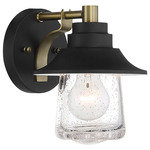 Westfield Manor Wall Sconce - Sand Coal / Clear Seeded