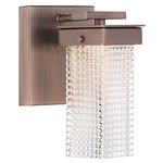 Dewberry Lane Wall Sconce - Dark Brushed Bronze / Clear Textured