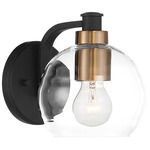 Keyport Wall Sconce - Sand Coal / Clear