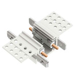 TR24 Track Inline Straight Connector - White
