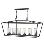 Alford Place 12V Linear Chandelier - Museum Black / Clear Seedy