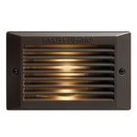 120V Louvered Step Light - Bronze / Frosted