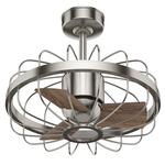 Roswell Ceiling Fan - Brushed Nickel / Spiced Chai Oak