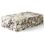 Plinth Coffee Table - Beige Rose Marble