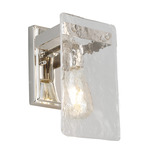 Wolter Wall Sconce - Polished Nickel / Clear