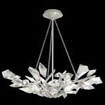 Foret Bowl Chandelier - Silver Leaf / Crystal