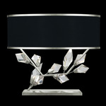 Foret Wide Table Lamp - Silver Leaf / Black / Silver Leaf