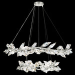 Foret Duo Pendant - Silver Leaf / Crystal
