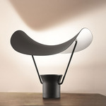 Vollee Table Lamp - Black / Embossed Black