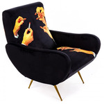 Lipstick Arm Chair - Black