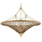Gaborone Chandelier - Contemporary Gold Leaf / Rattan